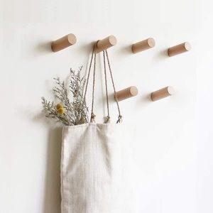 Wall Mounted Wooden Coat Hooks